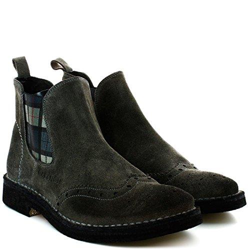 CAFè NOIR TM502 grigio scarpe uomo stivaletti beatles inglese