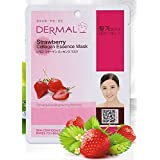 Dermal Korea Collagen Essence Mask- Strawberry (10 pack)