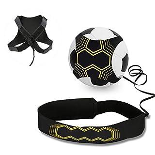 Ceinture d'entraînement pour football, Mopalwin Ballon de football d'entraînement avec élastique Ajustable et Elastique pour Enfant et Adulte