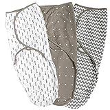 Baby Pucksack 3 Packungen Wickel Decke Schlafsack für Säuglinge Wickeldecke Babydecken 0-3 Monate