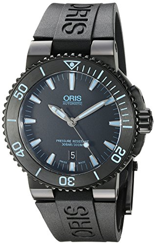 ORIS MEN'S 43MM BLACK RUBBER BAND STEEL CASE AUTOMATIC WATCH 73376534725RS