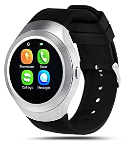 ESTAR Bluetooth Smartwatch with SIM Card Support | Android 5.1 OS | Facebook | Whatsapp | Activity Tracker | Fitness Band | Music | Micro SD card Support COMPATIBLE with Micromax Canvas Xpress 4G Q413 and all other Smartphones