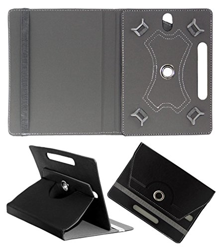 ACM ROTATING 360° LEATHER FLIP CASE FOR SAMSUNG TAB S 8.4 TABLET STAND COVER HOLDER BLACK