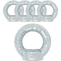 Ringmutter M8 DIN 582 C15E 5 Stück Ösen-Mutter Eisen verzinkt Anschlagmittel Traglast 140kg