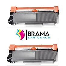 Bramacartuchos - 2 X Tóner compatible Tn2320 Alta Capacidad DCP L2500D, DCP L2500, DCP L2520, DCP L2540DN, DCP L2540, HL L2300, HL L2340, HL L2340DW, HL L2360, HL L2365, MFC L2700DW, MFC L2700, MFC L2720, MFC L2740, Dos Negros