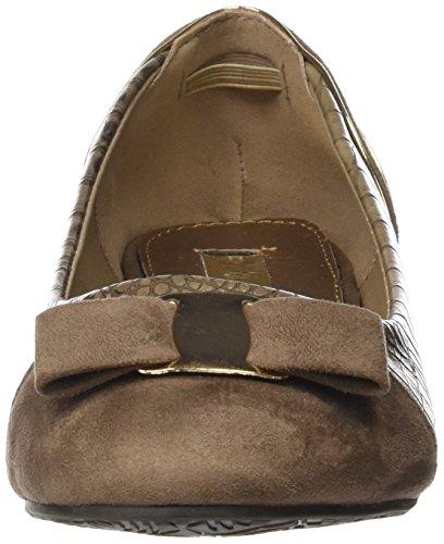 XTI Zapato Sra. C. Combinado Taupe, Ballerine Donna Taupe