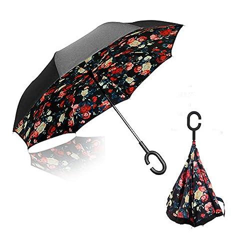 Double Layer Inverted Umbrella, Pococina Creative Waterproof