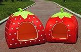 Kuschelhöhle Iglu in Erdbeeroptik, Erhältlich in 3 verschiedenen Größen und Farben - 4