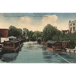 Fürstenfeldbruck, Partie an der Amper - 1913 - Reproduktion einer alten Ansichtskarte - Großformat 20x30 cm