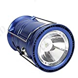 Solar Emergency Light Lantern, USB Mobile Charging Point, Rechargeable Night Light Travel Camping Lantern - Colour Will Be As Per Stock BY ZAUKY