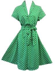 New Rosa verde diseño de lunares WW2 Land con diseño de chica 59131,2 cm En s para armario de Home e instrucciones para hacer vestidos de té de fundas para asientos delanteros