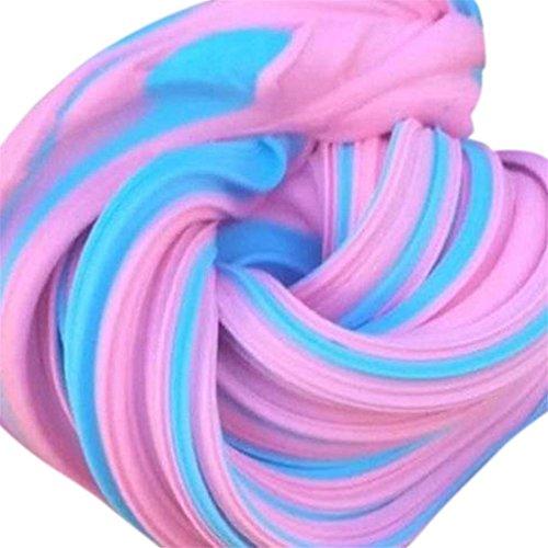 Dekompression Spielzeug Btruely Fluffy Slime Kinder Spielzeug Fluffy Slime Floam Slime Putty Duft Stress Relief No Borax Kinder Spielzeug (Eins Größe, Multicolor 1)