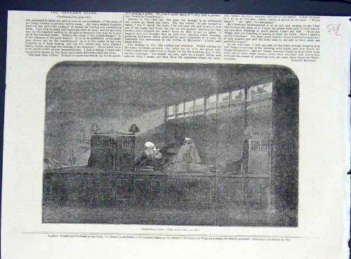 Oggetto d'antiquariato di arti della banca dell'impiegato dei banchieri di giorno di natale 1852