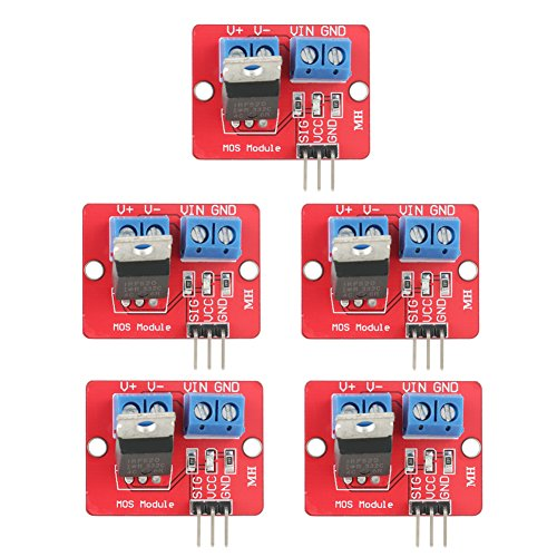 3.3 V / 5 V IRF520 MOSFET Driver Modules PWM Driving Control-Karten Ausgang 0-24 V für Arduino Raspberry Pi 5 Stück - Daten-karte, Drucker Zubehör