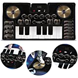 Fao Schwarz Giant Electronic Dance Mat Dj Mixer with Piano Keyboard & Turntable Scratch Pads, Includes Built-in Soundtracks Vocal Percussion Sound Effects for Composing Recording Your Own Music
