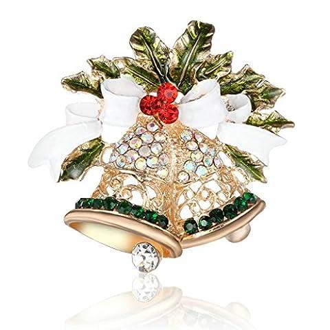 Série de Noël Anazoz Bjioux Broche Nœud Papillon Sapins Cloches Accessoires Fête de Cadeaux