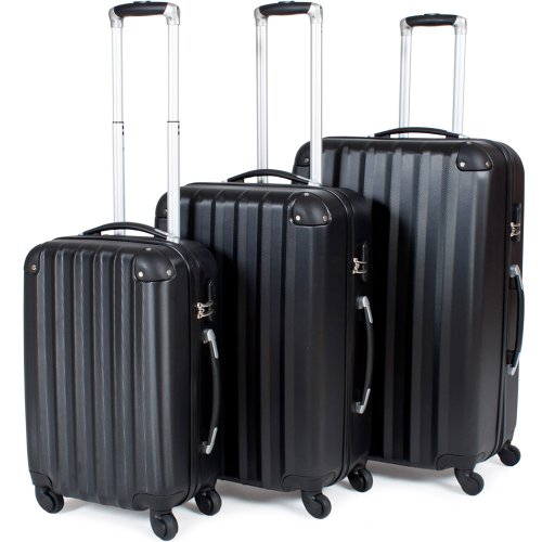 TecTake Lot de 3 Valises Trolley Valise Rigide à...
