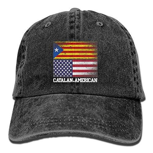 lag Unisex Adjustable Cotton Denim Hat Washed Retro Gym Hat Cap Hat ()