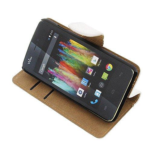 Tasche für Wiko Kite 4G Book Style weiß Kreditkarte Schutz Hülle Buch