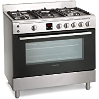 Montpellier MR90GOX 90cm Gas Single Oven Range Cooker Stainless Steel