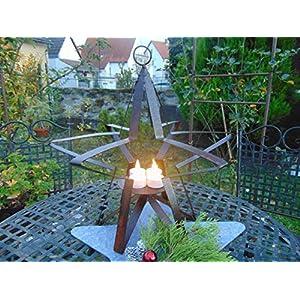 Edelrost Stern groß 40 x 41 cm mit Kerzenhalter auch zum Aufhängen Weihnachten