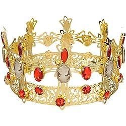 Cristal De Diamante De Imitación Tiara De La Corona Del Rey Del Desfile De La Boda De La Novia Del Diamante Del Casco
