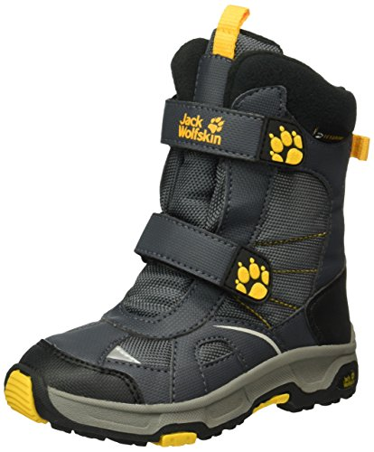Jack Wolfskin Polar Bear Texapore Jungen Schneestiefel, Grau (Burly Yellow XT 3802), 26 EU (Boys Bear Polar)