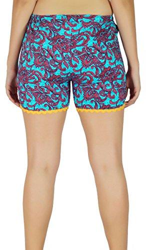Été Pantalon Porter Des Pantalons Chauds Shorts Tissu De Coton - Choisissez Votre Taille Bleu Et Rouge