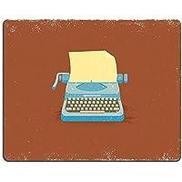 liili Mouse Pad alfombrillas de goma natural 28009035 máquina de escribir en Vintage Vector estilo antiguo