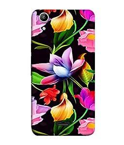 PrintVisa Designer Back Case Cover for Micromax Canvas Selfie 2 Q340 (Graphic Abstract Illustration Blossom Bloom Art Modern Beauty)