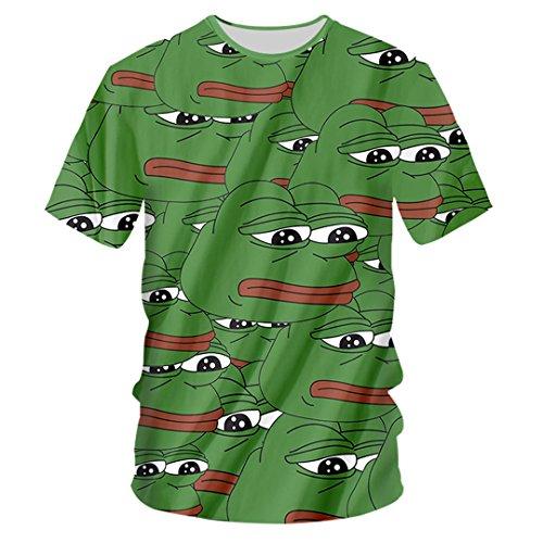 3278bfd407472 KISAFA Stampa 3D Unisex Pepe The Frog Felpe con Cappuccio E Pantaloni  Sportivi Maglie A