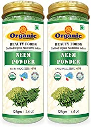 byPurenaturals Organic Neem Herbs Powder - 125gm (Pack of 2)