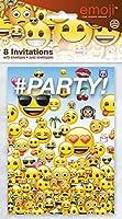 Ce lot se compose de 8 cartes et 8 enveloppes sous licence officielle Emoji. Les cartes mesurent environ 9,5 x 13,5 une fois pliées. Elles sont imprimées de nombreux Emoji prêts à faire la fête avec linscription #Party!A lintérieur, des pointillés vo...