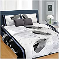 AAZEEM Abstract Polyester Double Bed Duvet Cover - Multicolour