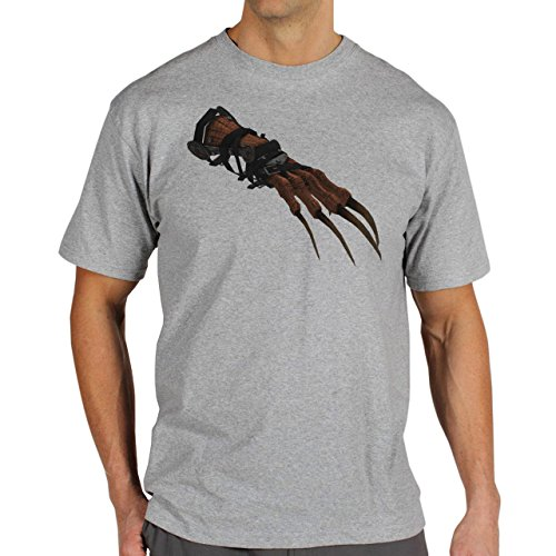 Fall Out 4 Computer Game Art Shooting Deathclaw Herren T-Shirt Grau