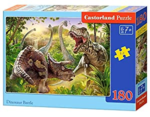 Castorland Dinosaur Battle 180 pcs Puzzle - Rompecabezas (Puzzle Rompecabezas, Animales, Niños, Dinosaurio, Niño/niña, 7 año(s))
