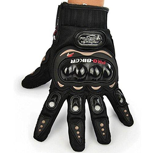 Yihya Ein Paar Volle Finger-Handschuhe Fäustlinge Motorrad-Motorrad Moto-Cross Dreckiges Fahrrad Atmungsaktiv Handschuhe für Sport im Freien Racing Radfahren --- black - L