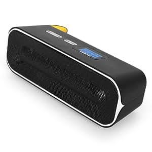 auna rocketbox 2 0 mini barre de son enceinte bluetooth portable avec ports usb et sd et. Black Bedroom Furniture Sets. Home Design Ideas