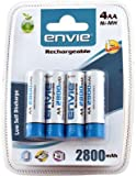#10: Envie 4xAA 2800mAH Ni-MH Rechargeable Batteries (White)