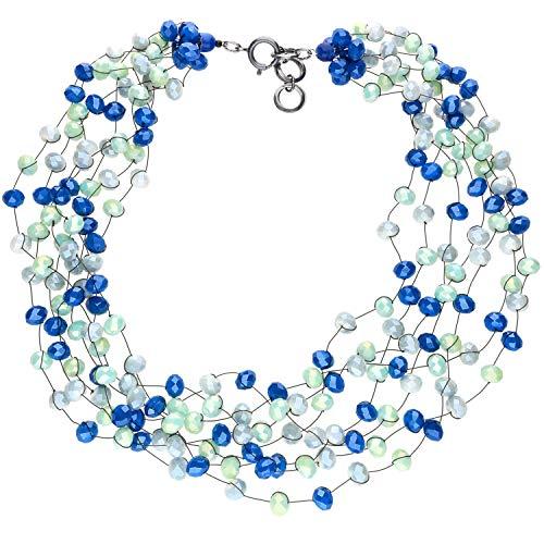 langani Kette Lili - blau Damen Halskette Collier Handmade Since 1952