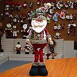Ohhome Decoración navideña Muñecas Hogar Papá Noel Elk Muñeco de Nieve Decoración de...
