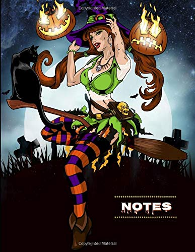 Notes: Sexy Witch Halloween Notebook