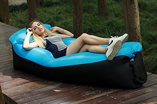 Wasserdichtes Aufblasbares Sofa -Aufblasbares Outdoor Liege Luftsofa Integriertem Kissen, Tragbarer Aufblasbarer Sitzsack, Aufblasbare Couch für Reisen, Camping, Strand, Park, Backyard - 7