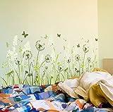 Diy Natur Gras Schmetterling Wandaufkleber Abnehmbare Löwenzahn Wandaufkleber Aufkleber Familie Aufkleber Wandbild Kunst Haus Garten Decor