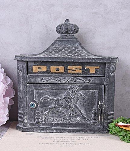 Briefkasten Antik Wandbriefkasten Gusseisen Grau Postkasten Gründerzeit Palazzo Exklusiv