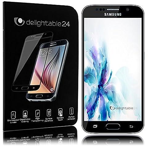 delightable24 Écran Protection Verre Trempé Résistant Èraflure Glass Screen Protector Couvre 100% pour SAMSUNG GALAXY S6 Smartphone - Transparent