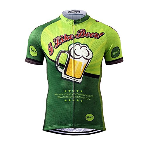 Thriller Rider Sports Mens Mountain Bike Short Sleeve Cycling Jersey Bike Tshirt