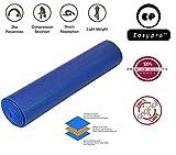 Easypro Fitness Non Slip Yoga Mat 6 mm For Men & Women (Blue Color) Pattern#866