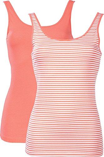 Schiesser Damen Top Unterhemd Doppelpack farblich sortiert - 142780 Sortiert 1