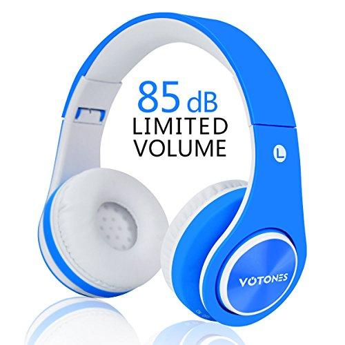 Cuffie Bluetooth per bambini, Stereo a 85 dB Volume Limitato senza fili /con filo pieghevole sopra Orecchio Cuffia per le...